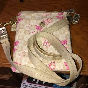 COACH BUTTERFLY PURSE AND WALLET SET